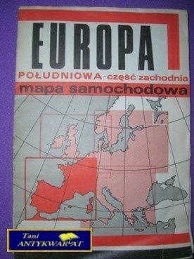 Europa Poludniowa Mapa Samochodowa